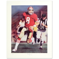"Daniel M. Smith & Steve Young Signed ""Run & Shoot (Steve Young)"" LE 16"" x 21"" Lithograph Dated 1992"
