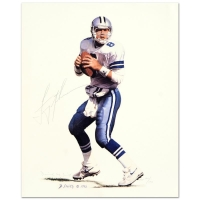 "Troy Aikman & Daniel M. Smith Signed ""Troy Aikman"" Limited Edition 11"" x 13.5"" AP Lithograph Dated 1992"