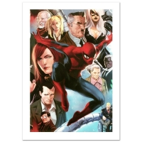 """Stan Lee Signed """"Amazing Spider-Man #645"""" Limited Edition 18x27 Giclee on Canvas by Marko Djurdjevic and Marvel Comics"""