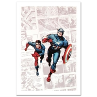"Stan Lee Signed ""Captain America: The 1940s Newspaper Strip"" Limited Edition 18x27 Giclee on Canvas by Butch Guice and Marvel Comics"