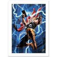 """Stan Lee Signed """"Marvel Adventures: Super Heroes #2"""" Limited Edition 18x27 Giclee on Canvas by Clayton Henry and Marvel Comics"""