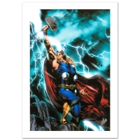 "Stan Lee Signed ""Thor First Thunder #1"" Limited Edition 18x27 Giclee on Canvas by Jay Anacleto and Marvel Comics"