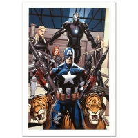 """Stan Lee Signed """"Ultimate New Ultimates #3"""" Limited Edition 18x27 Giclee on Canvas by Frank Cho and Marvel Comics"""