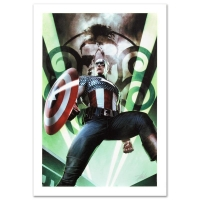 "Stan Lee Signed ""Captain America: Hail Hydra #1"" Limited Edition 18x27 Giclee on Canvas by Adi Granov and Marvel Comics"