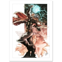 "Stan Lee Signed ""Thor: For Asgard #3"" Limited Edition 18x27 Giclee on Canvas by Simone Bianchi and Marvel Comics"