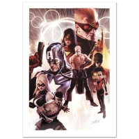 "Stan Lee Signed ""The Mighty Avengers #30"" Limited Edition 18x27 Giclee on Canvas by Marko Djurdjevic and Marvel Comics"