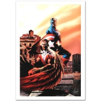 "Stan Lee Signed ""Captain America & The Falcon #5"" Limited Edition 18x27 Giclee on Canvas by Steve Epting and Marvel Comics"