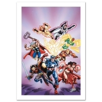"Stan Lee Signed ""Avengers #16"" Limited Edition 18x27 Giclee on Canvas by Jerry Ordway & Marvel Comics"