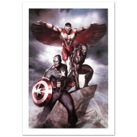 "Stan Lee Signed ""Captain America: Hail Hydra #3"" Limited Edition 18x27 Giclee on Canvas by Adi Granov and Marvel Comics"