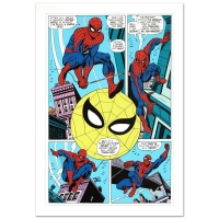 "Stan Lee Signed ""Amazing Spider-Man #90"" LE 18"" x 27"" Giclee on Canvas by Gil Kane & Marvel Comics"