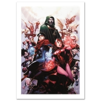 "Stan Lee SIgned ""Avengers: The Children's Crusade #4"" Limited Edition 18x27 Giclee on Canvas by Jim Cheung & Marvel Comics"