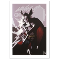 "Stan Lee Signed ""Wolverine Avengers Origins: Thor #1 & The X-Men #2"" LE 18"" x 27"" Giclee on Canvas by Al Barrionuevo & Marvel Comics"