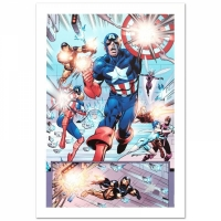 "Stan Lee Signed ""Last Hero Standing #1"" Limited Edition 18x27 Giclee on Canvas by Patrick Olliffe and Marvel Comics"