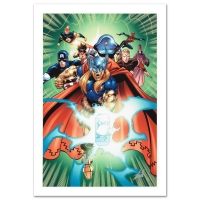 "Stan Lee Signed ""Last Hero Standing #5"" LE 18"" x 27"" Giclee on Canvas by Patrick Olliffe & Marvel Comics"