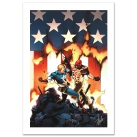 """Stan Lee Signed """"Ultimate Avengers #8"""" Limited Edition 18x27 Giclee on Canvas by Carlos Pacheco & Marvel Comics"""