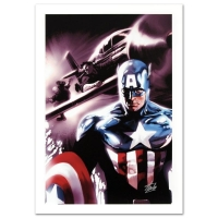 """Stan Lee Signed """"Captain America #609"""" Limited Edition 18x27 Giclee on Canvas by Marko Djurdjevic and Marvel Comic"""