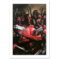 "Stan Lee Signed ""Deadpool #2"" LE 18x27 Giclee on Canvas by Clayton Crain & Marvel Comics"