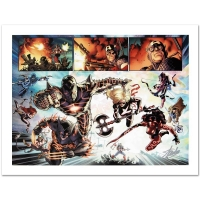 "Stan Lee Signed ""Fear Itself #7"" Limited Edition 18x24 Giclee on Canvas by Stuart Immonen and Marvel Comics"