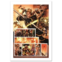 "Stan Lee Signed ""Secret Invasion #7"" Limited Edition 18x27 Giclee on Canvas by Leinil Francis Yu and Marvel Comics"