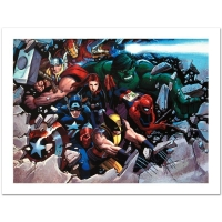 "Stan Lee SIgned ""Son of Marvel: Reading Chronology"" Limited Edition 18x24 Giclee on Canvas by John Romita Jr. and Marvel Comics"
