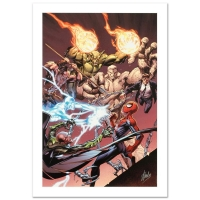 "Stan Lee Signed ""Ultimate Spider-Man #158"" Limited Edition 18x27 Giclee on Canvas by Mark Bagley and Marvel Comics"