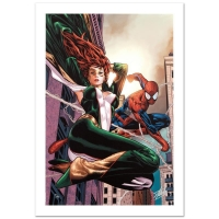 "Stan Lee Signed ""Amazing Spider-Man Family #6"" Limited Edition 18x27 Giclee on Canvas by Paulo Siqueira and Marvel Comics"