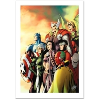 "Stan Lee Signed ""I Am an Avenger #5"" Limited Edition 18x27 Giclee on Canvas"