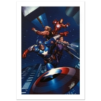 """Stan Lee Signed """"Ultimate New Ultimates #5"""" Limited Edition 18x27 Giclee on Canvas by Frank Cho & Marvel Comics"""