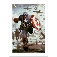 "Stan Lee ""Captain America #615"" Signed Limited Edition 18x27 Giclee on Canvas by Daniel Acuna and Marvel Comics"
