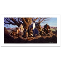 """Greg Hildebrandt Signed """"Fellowship Of The Ring"""" Limited Edition 17x35 Giclee on Canvas"""