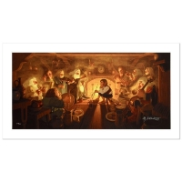"Greg Hildebrandt Signed The Hildebrandt Brothers ""The Unexpected Party"" Limited Edition 17x35 Giclee on Canvas"