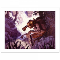 """Greg Hildebrandt Signed """"Gollum"""" Limited Edition Giclee 21x28 Canvas at PristineAuction.com"""