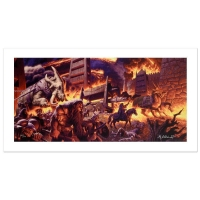 """The Brothers Hildebrandt """"The Siege Of Minas Tirith"""" Signed Limited Edition 35x17 Giclee on Canvas (PA LOA) at PristineAuction.com"""