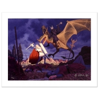 "The Brothers Hildebrandt ""Eowyn And The Nazgul"" Signed Limited Edition 28x21 Giclee on Canvas at PristineAuction.com"
