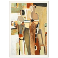 "Yuri Tremler Signed ""Bar Scene II"" Limited Edition 14x20 Serigraph at PristineAuction.com"