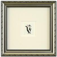 """1999 """"Pepe Le Pew's Girlfriend"""" LE 9x9 Custom Framed Etching with Hand-Tinted Color"""