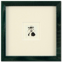 """Pepe Le Pew"" 8x8 Custom Framed Limited Edition Hand-Tinted Etching Dated 1999 from Warner Bros."