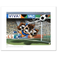 "Warner Bros. ""Taz Soccer"" Limited Edition 16x12 Giclee at PristineAuction.com"