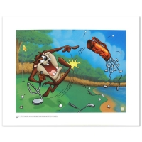 "Warner Bros. ""Terrible Taz Golf"" Limited Edition 16x12 Giclee on Paper"