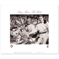 """Bugs Meets The Babe"" Collectible 16x15 Lithograph from Warner Bros. at PristineAuction.com"