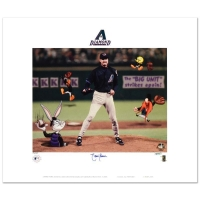 "Randy Johnson Signed ""Randy Johnson"" Limited Edition 16x16 Lithograph from Warner Bros. at PristineAuction.com"