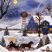 """Jane Wooster Scott Signed """"Night Owls"""" Limited Edition 14x16 Lithograph at PristineAuction.com"""