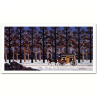 "Jane Wooster Scott Signed ""A Lonely Trek"" Limited Edition 11x21 Lithograph at PristineAuction.com"