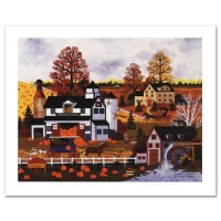 "Jane Wooster Scott Signed ""Textures of Autumn"" LE 16x14 Lithograph at PristineAuction.com"