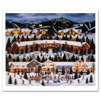 """Jane Wooster Scott Signed """"Alpine Winter Grandeur"""" Limited Edition 24x28 Lithograph at PristineAuction.com"""