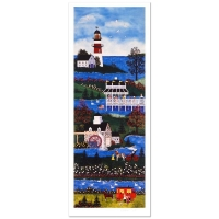 """Jane Wooster Scott """"Springtime Cheer"""" Signed Limited Edition 24x8 Lithograph at PristineAuction.com"""