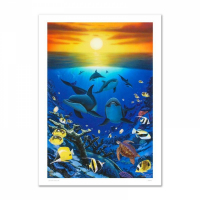 "Wyland Signed ""Ocean Calling"" Limited Edition 20x30 Giclee on Canvas at PristineAuction.com"