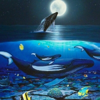 "Wyland Signed ""The Living Sea"" Limited Edition 27x20 Giclee on Canvas at PristineAuction.com"