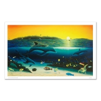 "Wyland ""Warm Tropical Waters"" Signed Limited Edition 43x26 Giclee on Canvas at PristineAuction.com"
