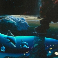 """Wyland Signed """"Island Paradise"""" Limited Edition 20x40 Giclee on Canvas at PristineAuction.com"""